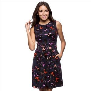 Vince Camuto Floral Fit & Flare Dress, Size 10